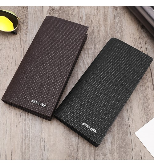 2018 new creative men's long wallet ultra thin young man's business casual wallet Card Holders