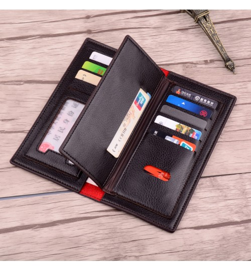 Loose-leaf Men's Long Wallet Fashional Business Activities Gifts