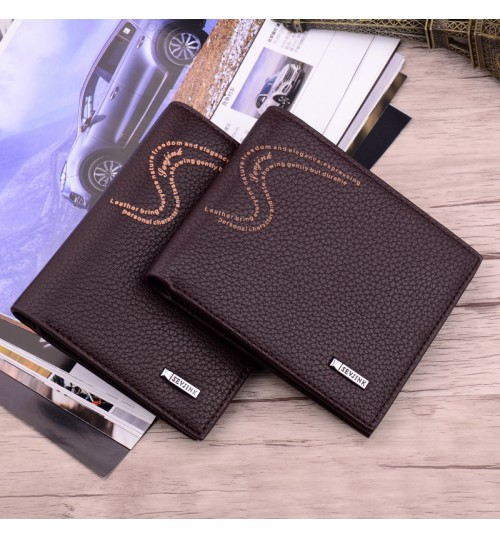 New men's short wallet business casual simple fashional horizontal purse