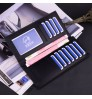 Men's long wallet youth multi cards soft leather thin simple fashional business student purse
