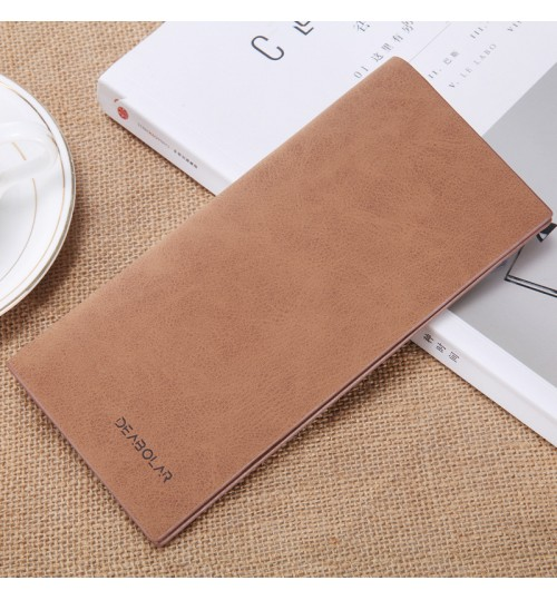 Men's Wallet Long Slim Retro frosting Youth Soft purse Personalized Fashional Student Tickets case