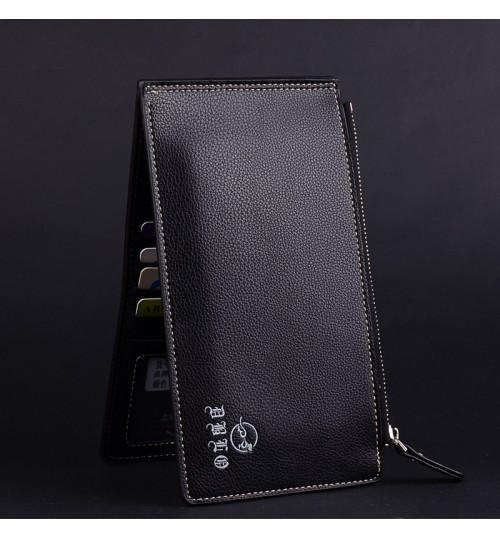2018 new long double zipper card pack fashion multi-functional men and women couple wallet