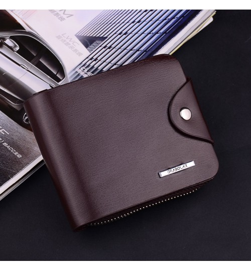 Popular men's short wallet high-grade youth zipper business card pack