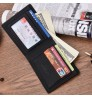 2018 new men's short wallet fashional smooth soft leather cross multi-functional card holder