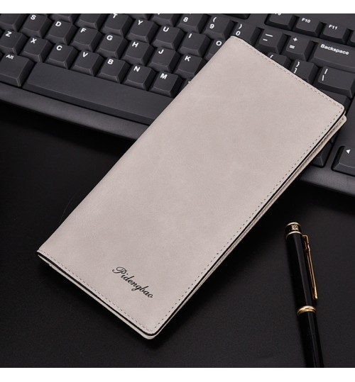 2018 new wallet male retro long frosted ultra thin wallet men's zipper bag