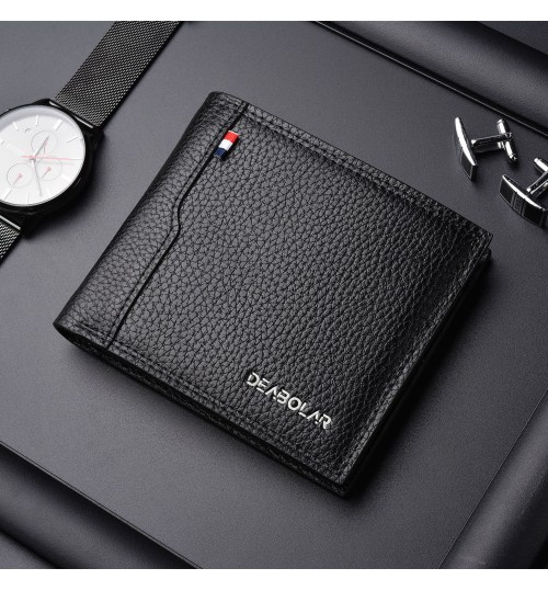 New men's short wallet business casual driver's license multi-functional large capacity purse
