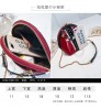 Creative new chain women bag patent leather bright shoulder bag portable shell pack
