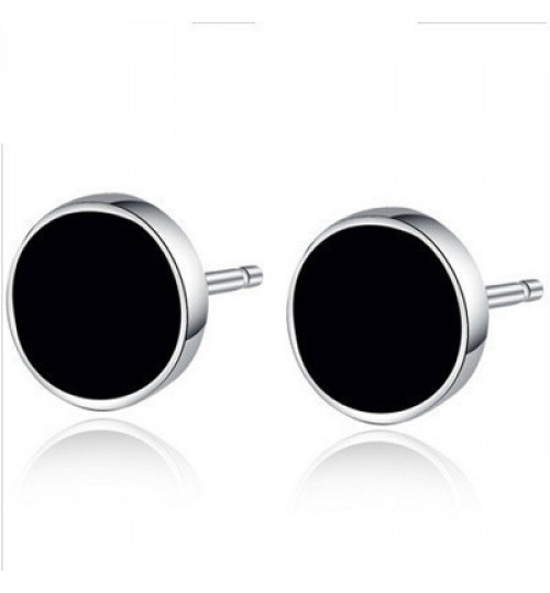 Men's Sterling Silver Stud Earrings Star 925 Silver Jewelry