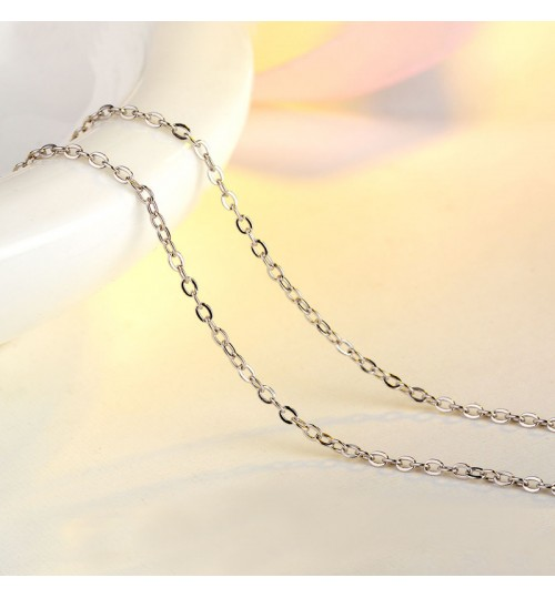 European clavicle chain 925 sterling silver cross necklace