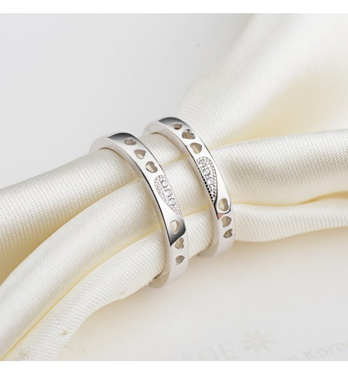 New couple ring s925 sterling silver simple men women birthday Valentine's day gift