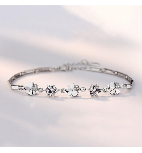 S925 Sterling Silver Bracelet Women Simple Jewelry Valentine's Day Birthday Gift