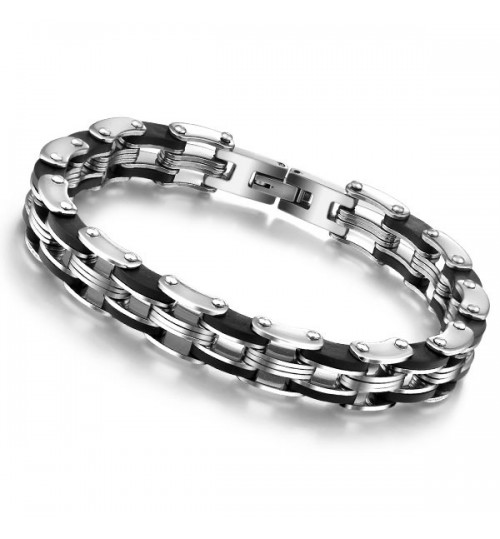 Men's Stainless Steel Bracelet Fashion Men's bike Chain Jewelry
