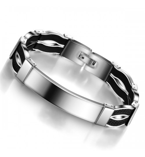 Fashionable Simple Jewelry Anti-allergic Titanium Steel Mens Bracelet