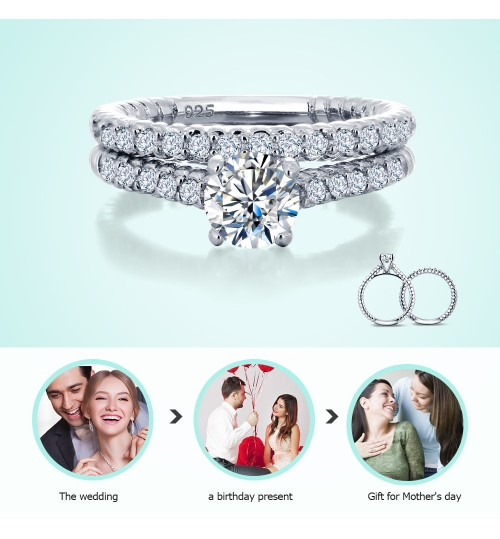 Couple 925 Silver Rings European Retro Zircon Fashion New Products