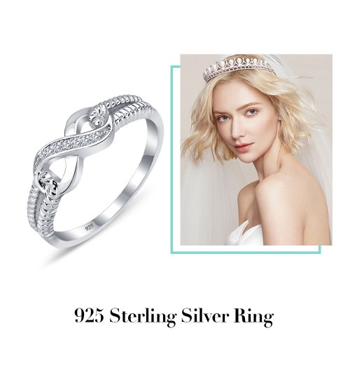 Best-selling jewelry micro-inlaid ring white silver jewelry