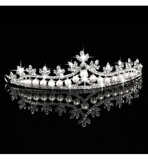Crown Tiara Bride Jewelry Hair Accessories for Wedding