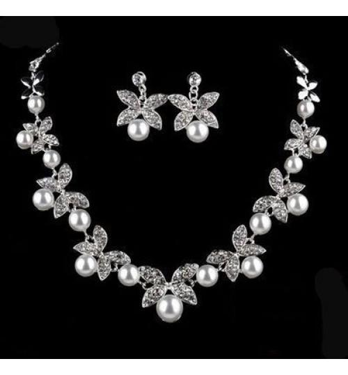 Bridal Alloy Headwear Pearl Two-piece Wedding Accessories Jewelry