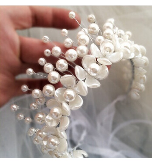New Bridal headdress Bridal handmade pearl flower crown tiara female hair accessories jewelry
