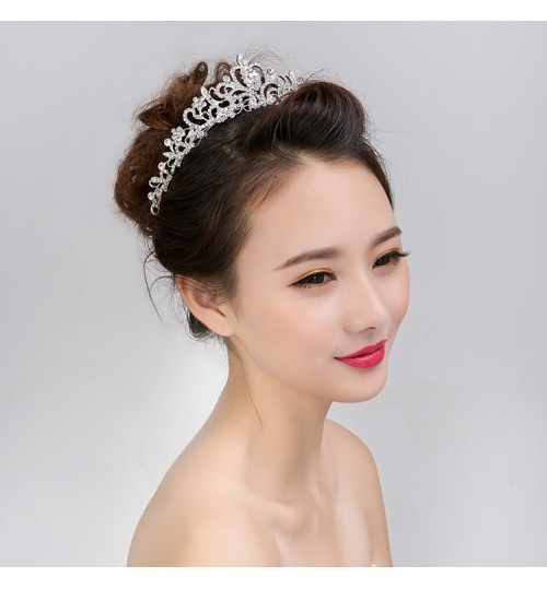 wedding crown tiara diamond jewelry bride headdress