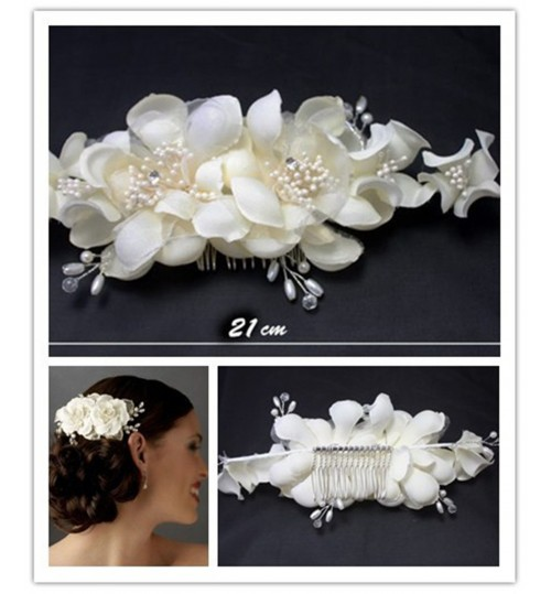 Bridal Diamond Pearl Headdress Hair Band Wedding Tiara Hair Crown