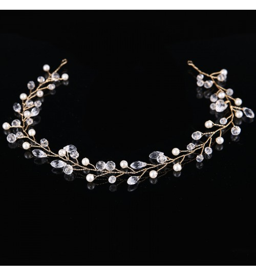 Bridal style hair band Handmade crystal dress accessories for wedding