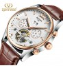 Genuine Men's Automatic Tourbillon Mechanical Watch Stainless steel back cover