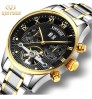 Genuine men's stainless steel belt high-grade tourbillon automatic mechanical watches