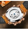 Genuine large Dial plate automatic mechanical watch waterproof Genuine leather band