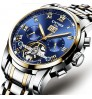 Genuine men's luxury watch blue surface tourbillon automatic mechanical watches luminous waterproof
