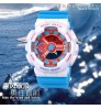 Multi-functional plastic case personalized watch dual display luminous electronic watch for children boys girls
