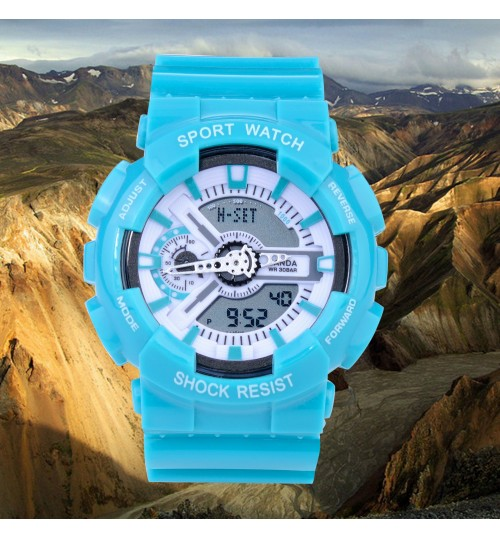 Multifunctional dual display luminous shockproof electronic waterproof outdoor sports watch for student children