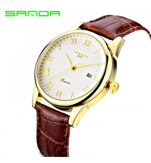 Korean Style Fashional Diamond Waterproof Quartz Watch Male Couple Student wristwatch