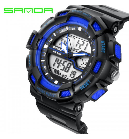 new three hands sports waterproof wristwatch personalized fashion trendy brand watch double display