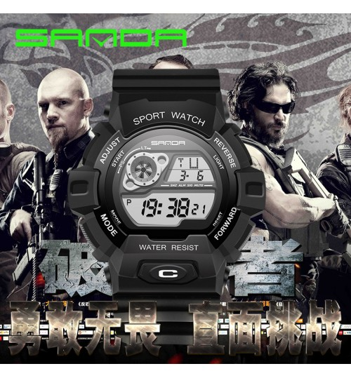 Multi-functional luminous electronic watch waterproof outdoor sports climbing diving wristwatch