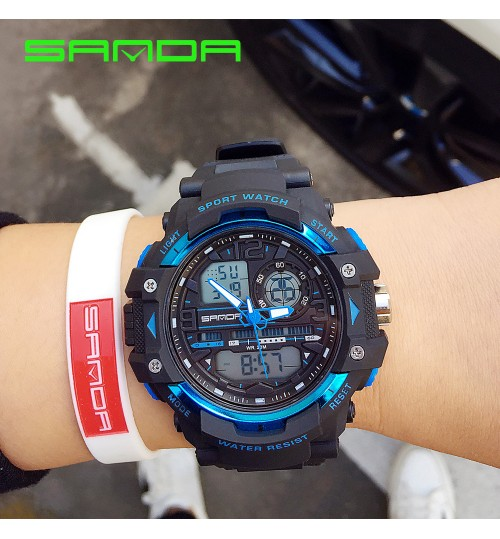Male and female students luminous sports electronic watch Korean fashion waterproof simple LED watch boys and girls