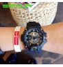 Big dial electronic sports dual dial plate waterproof quartz watch for boys student