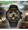 Men's big dial waterproof electronic watch fashion multi-functional outdoor sports wristwatch