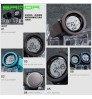 Men's big dial waterproof electronic watch personalized fashion trendy sports watches