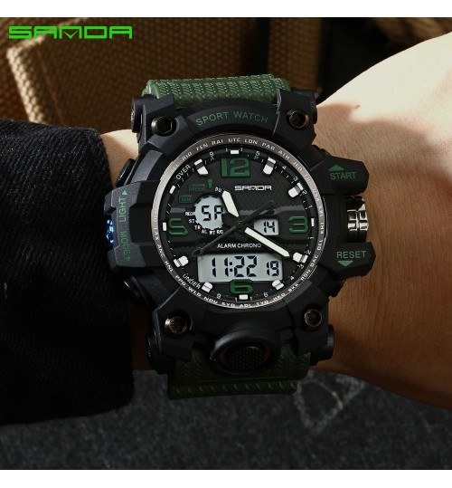 Men's sports Electronic Watch Fashion Multi-function week time display Student Gift
