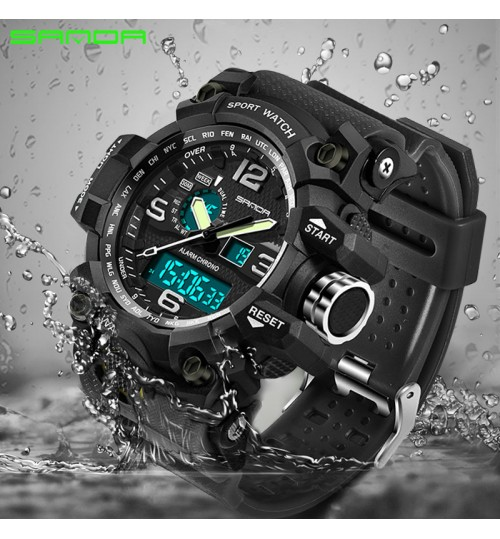 fashional sport wristwatch multi-functional student electronic watch men waterproof quartz watch
