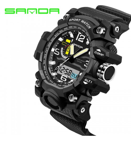 Multifunctional LED electronic watch waterproof sports men's wristwatch hand number display