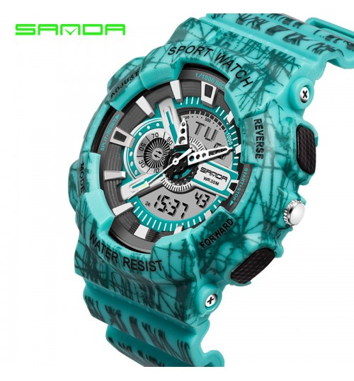 Multi-functional sports waterproof luminous electronic watch couple student wristwatch