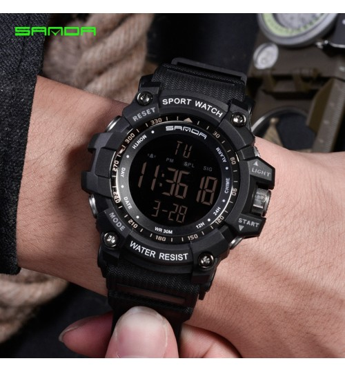 Electronic watch Men's student sports watch couple resin big dial electronic wristwatch