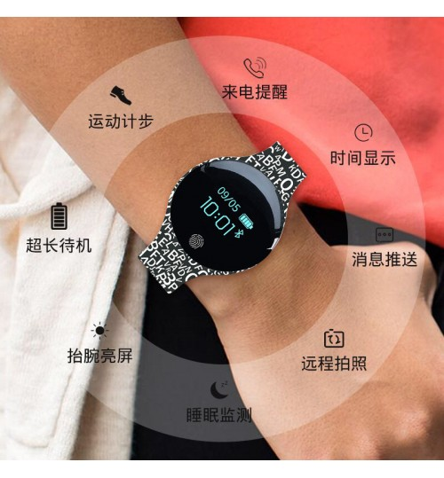 2018 waterproof sports watch Bluetooth bracelet round touch screen gift Smart Wristband