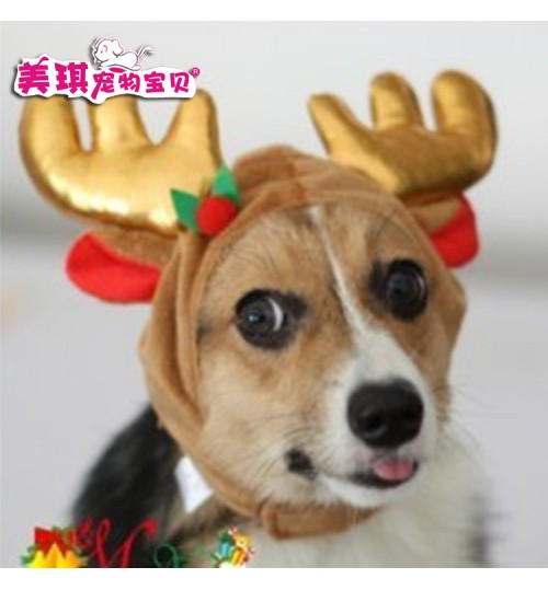 Cat dog birthday hat pet baseball cap birthday cake candle style Christmas Elk hat