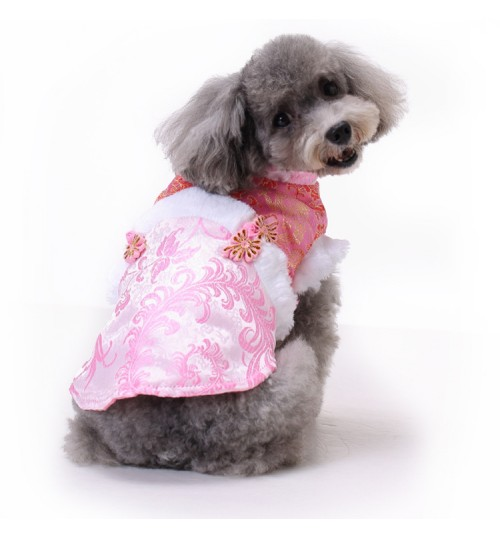 Dog Clothes Chinese-style costume Pet Clothes puppy New Year Dress