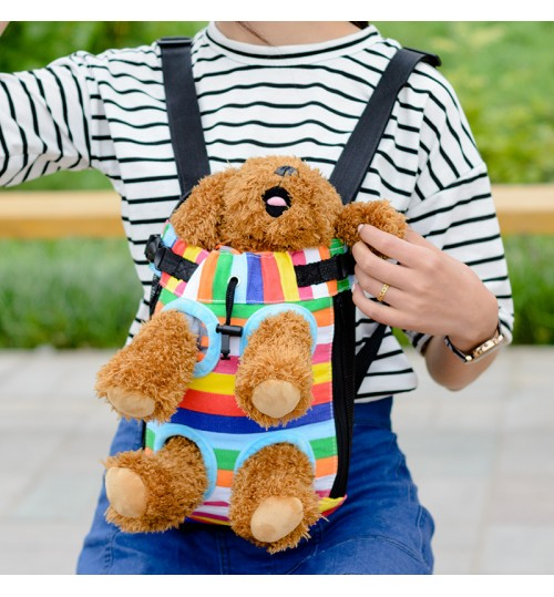 Pet Backpack Dog Carrying bag Shoulder Bag Four-legged front chest Kangaroo brood pouch pack