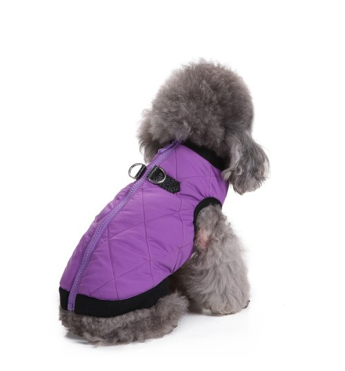 Dog clothes winter pet clothing zipper jacket cotton coat