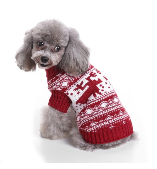 Dog Clothes Christmas gift Winter Cold-proof blue black red Pet Sweaters
