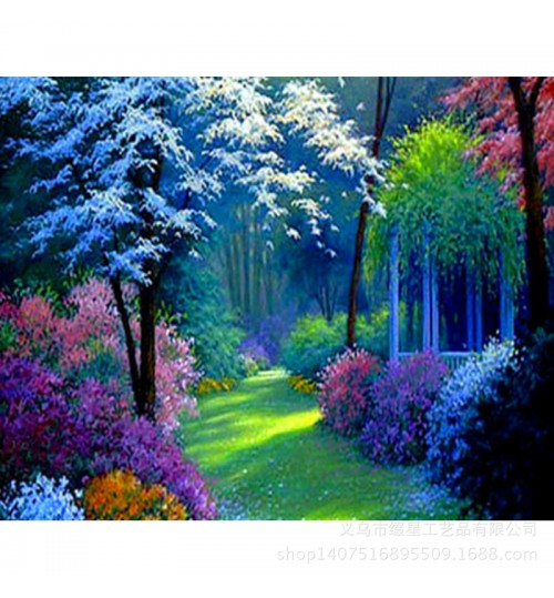 Landscape resin diamond embroidery DIY factory direct sales semi-finished hand made handicraft